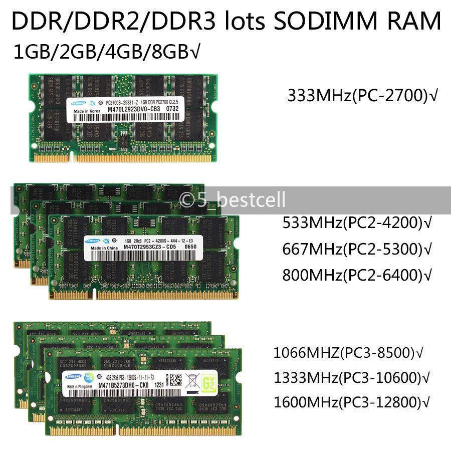 Samsung 2GB//4GB//8GB PC3-10600S DDR3 1333MHz 204pin Laptop sodimm Memory Ram LOT
