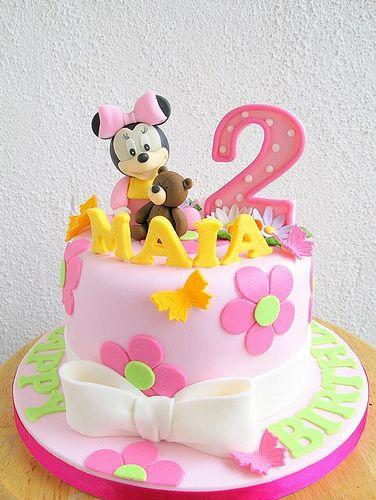 Tremendous Maias Baby Minnie Cake Minnie Cake Minnie Mouse Birthday Cakes Funny Birthday Cards Online Unhofree Goldxyz