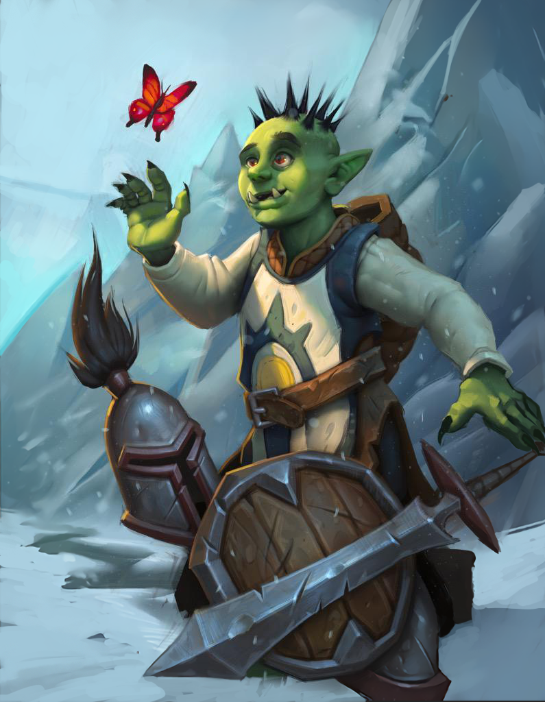 illustration de tyson murphy warcraft orc artist and