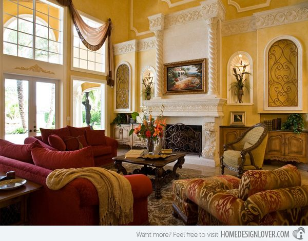 15 Stunning Tuscan Living Room Designs Tuscan Living Rooms Tuscan Colors And Living Rooms
