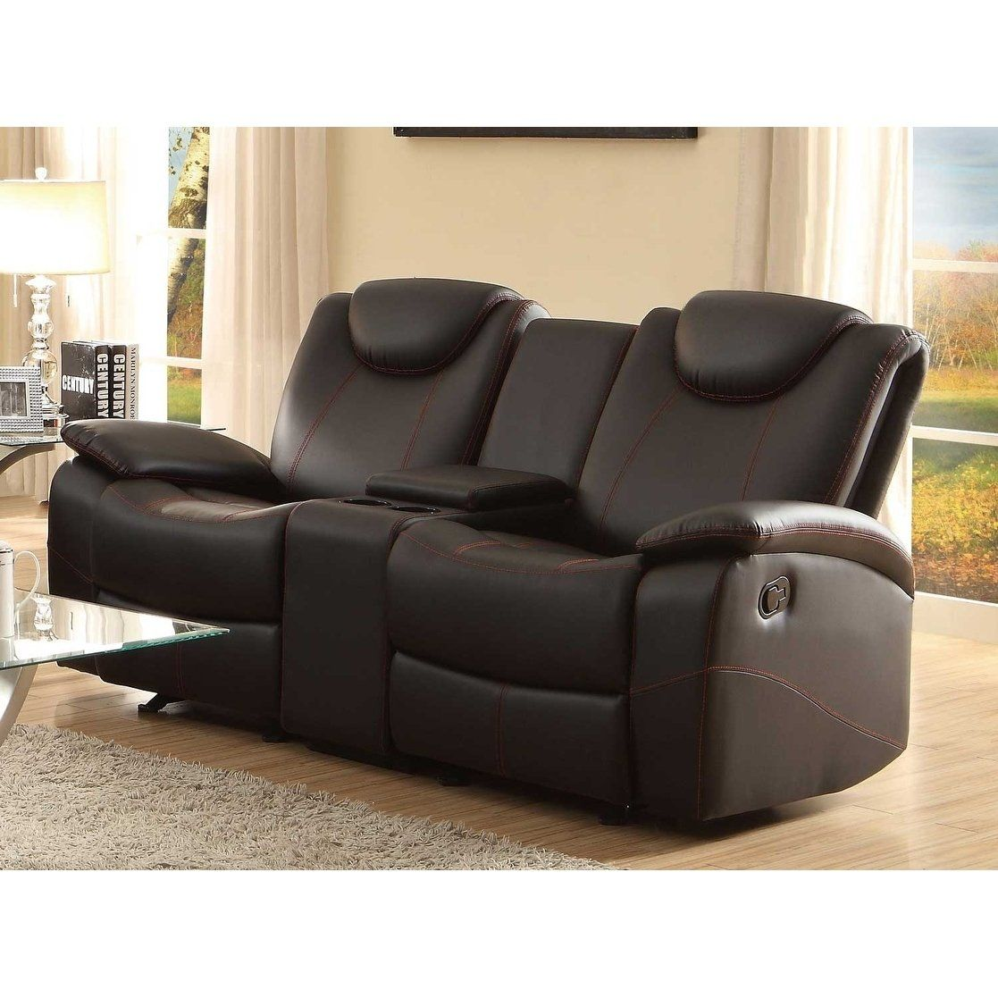 Glider Recliner Loveseat With
