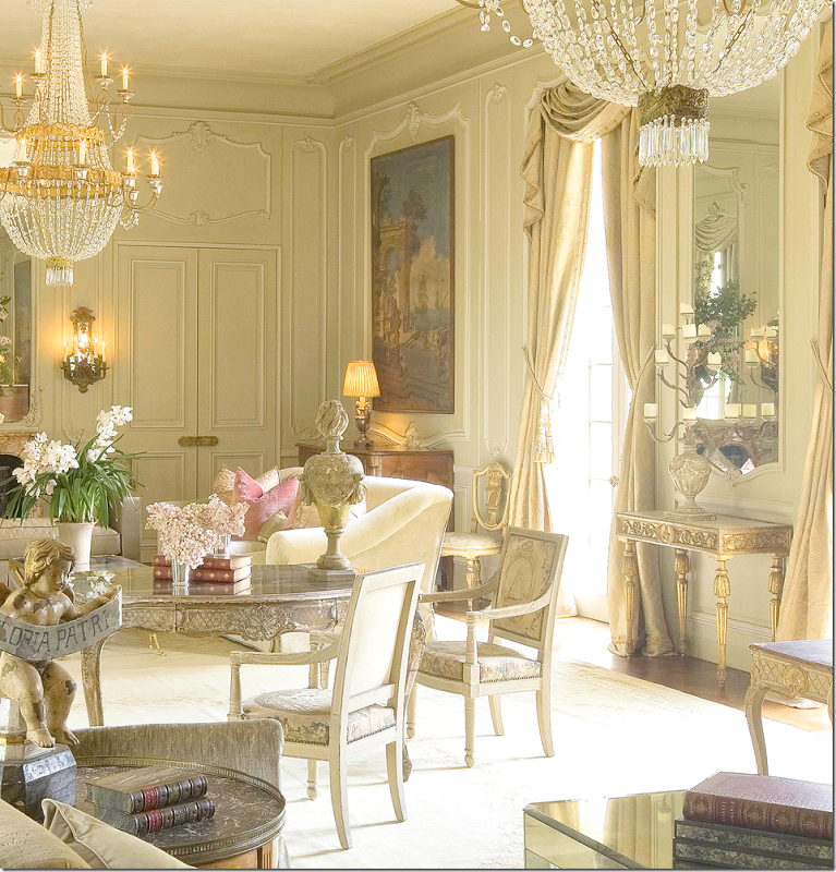 16 Stunning French Style Living Room Ideas: Another Close-up Of This Kara Childress-designed Room. In