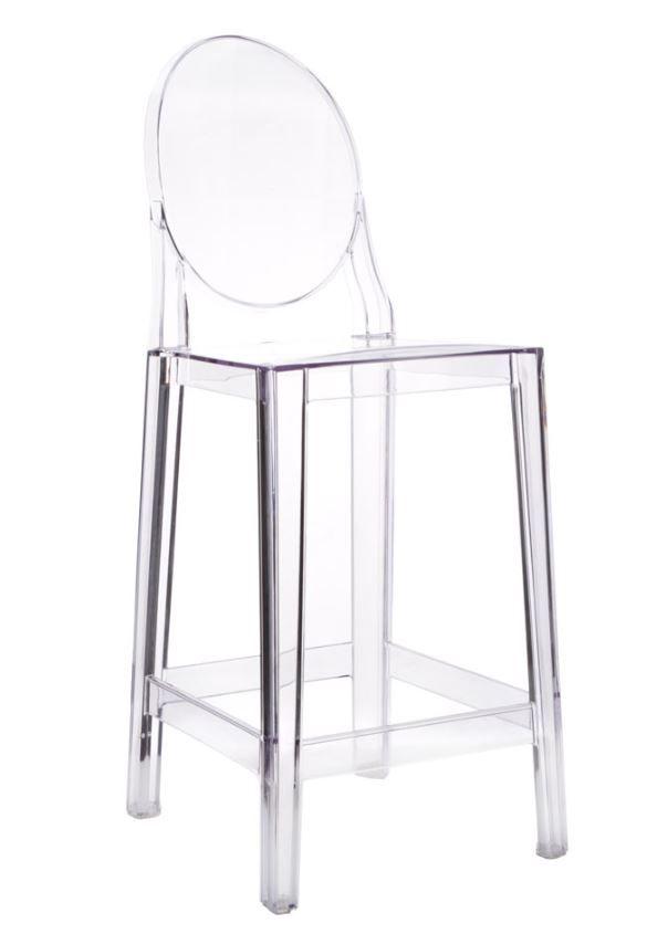 Replica Philippe Starck Victoria Ghost Stool 65cm Clear
