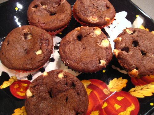 sour cherry chocolate muffins...not pretty but oh so yummy