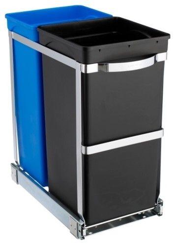 Pull-Out Recycler Bin waste baskets Kitchen Pinterest Kitchen