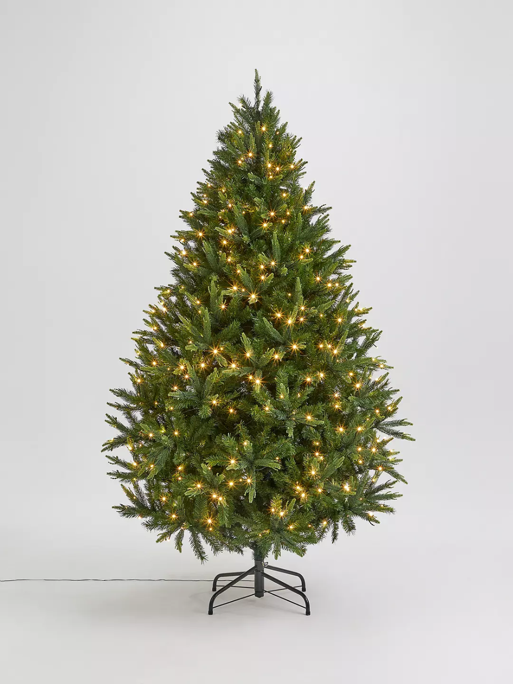 John Lewis & Partners Peardrop PreLit Christmas Tree, 7ft