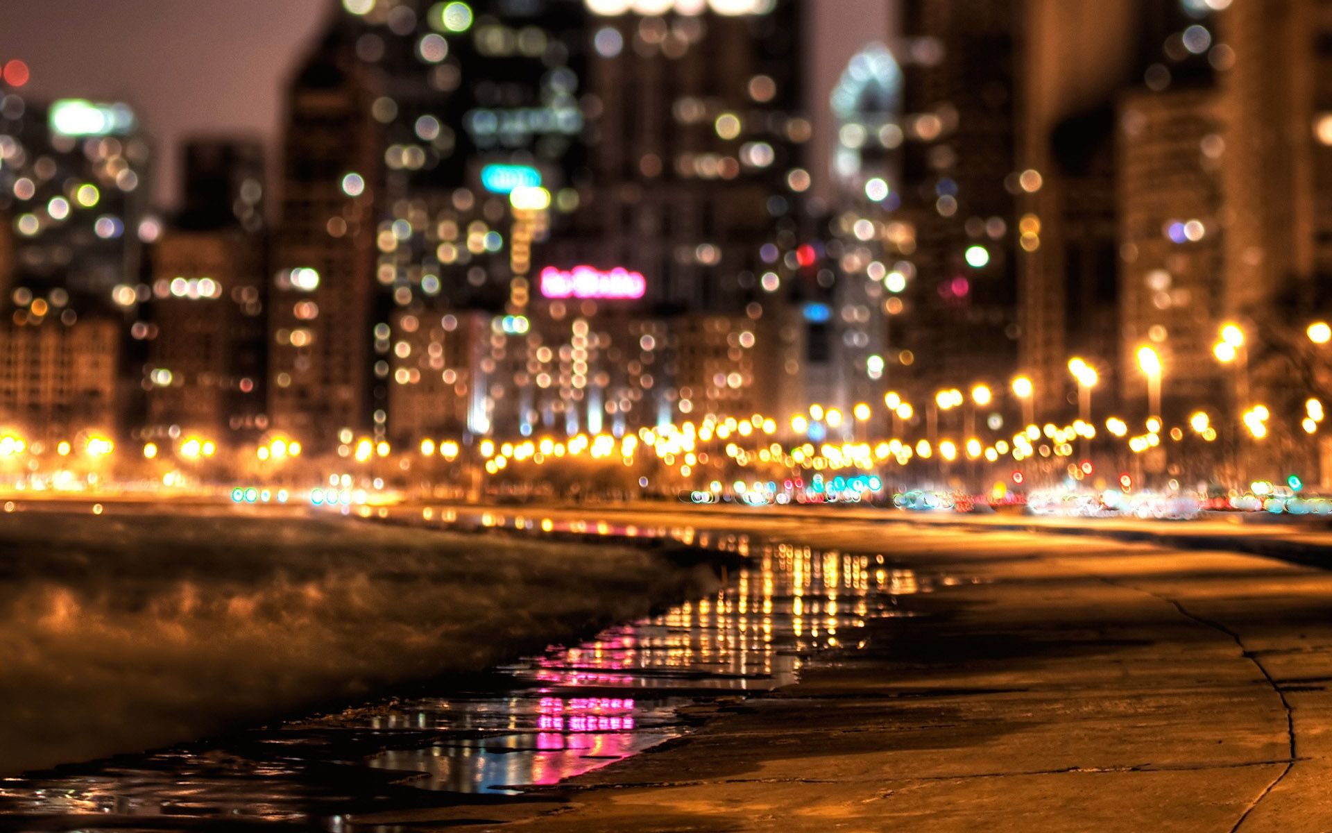 Photography Wallpaper (Urban Photography – City Lights Edition ... for City Lights At Night Wallpaper  599kxo