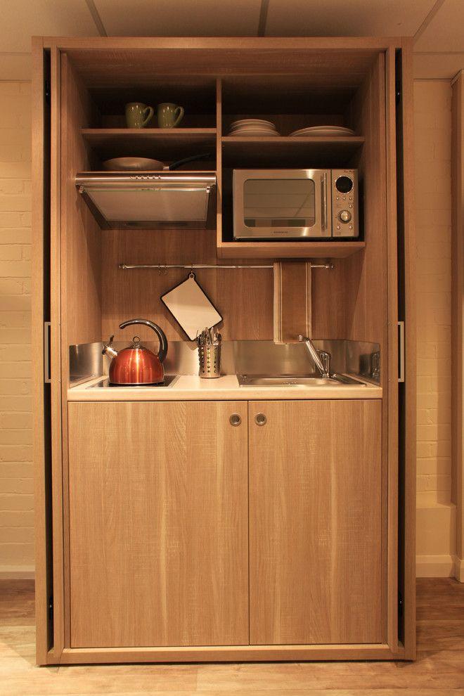 Mini Kitchen Units Shelves Oven Plates Cups Fan Stove Faucet Sink