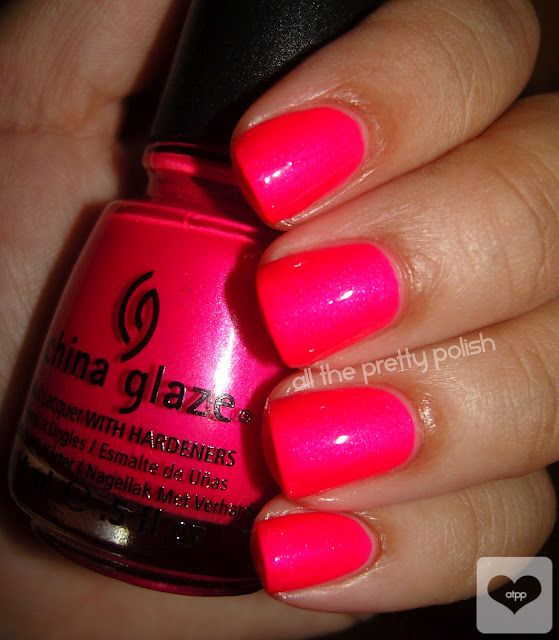 I got my nails done with this color and make no mistake, it is highlighter neon pink but BEAUTIFUL. I wish china glaze had a better formula or I would run out to buy a bottle ASAP.
