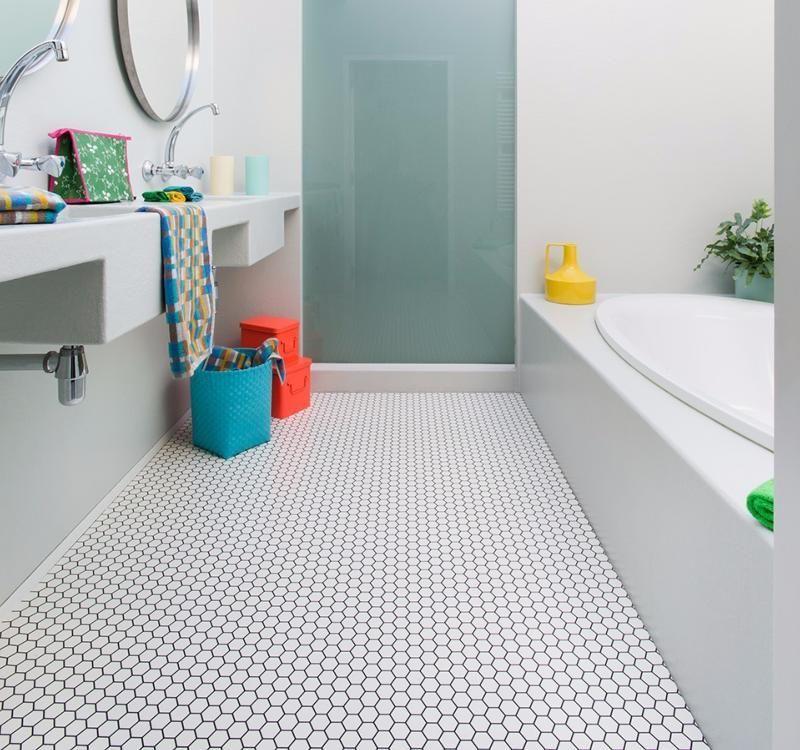 Hex Vinyl Flooring With Images Vinyl Flooring Bathroom