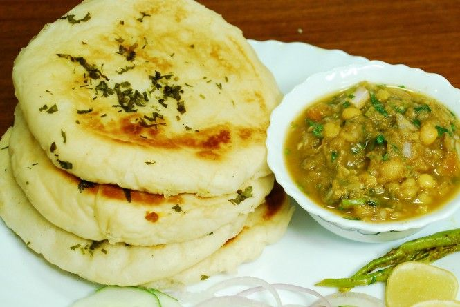 Mutter and kulcha make a great combination with dry gravy india matar kulcha an indian bread type leavened bread made from wheat flour forumfinder Choice Image