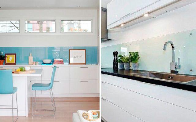 Revestimiento de frentes de cocina con vidrio templado - Revestimiento para cocinas ...