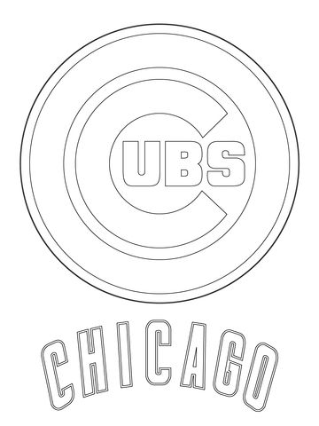 Chicago Cubs Logo Coloring Page Baseball Coloring Pages