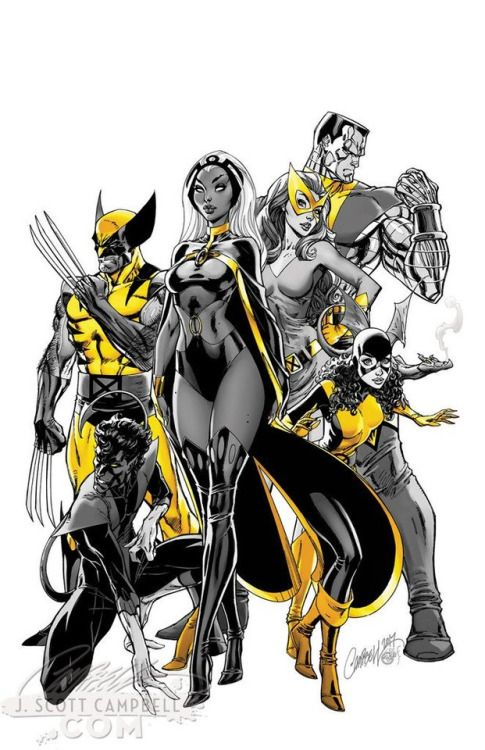 X Men Gold Vol 2 1 2017 Variant Covers By J Scott Campbell X Men Marvel Superheroes Marvel