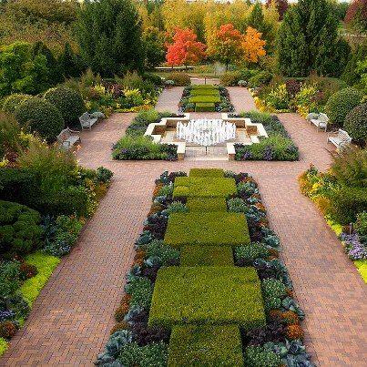 Formal garden design with strong foliage effect (Circle Garden ...