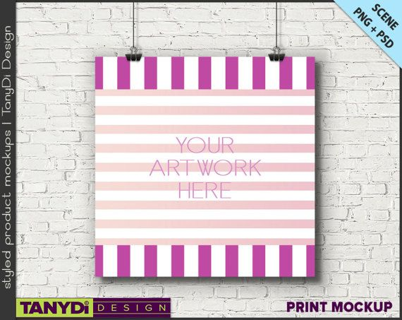 7fc73148fcfd Square Poster Photoshop Styled Mockup 8x8 by TanyDiArtDesign ...
