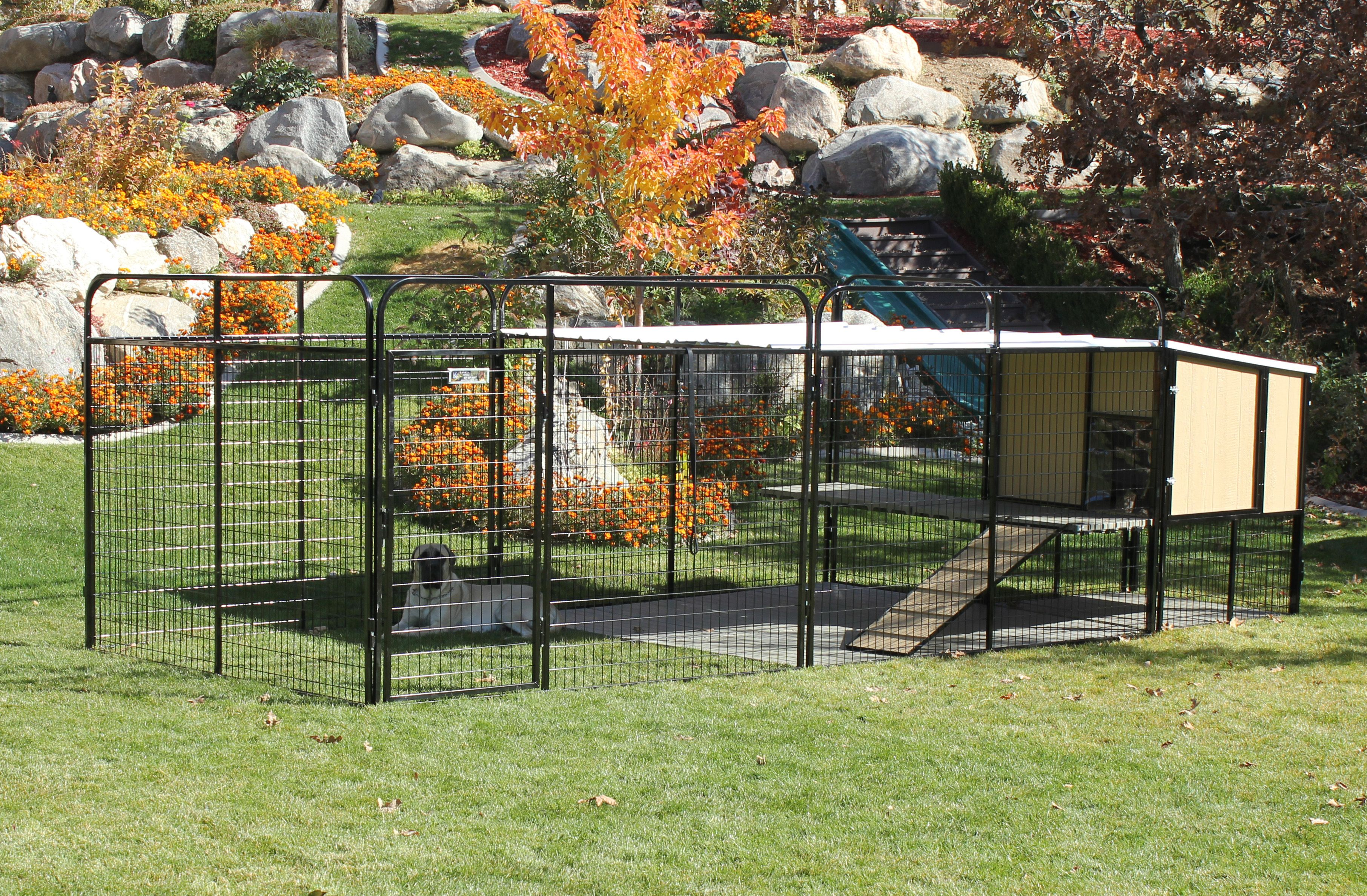 Kennel Castle Dog House And Run For Large Breed Dogs Or Multiple