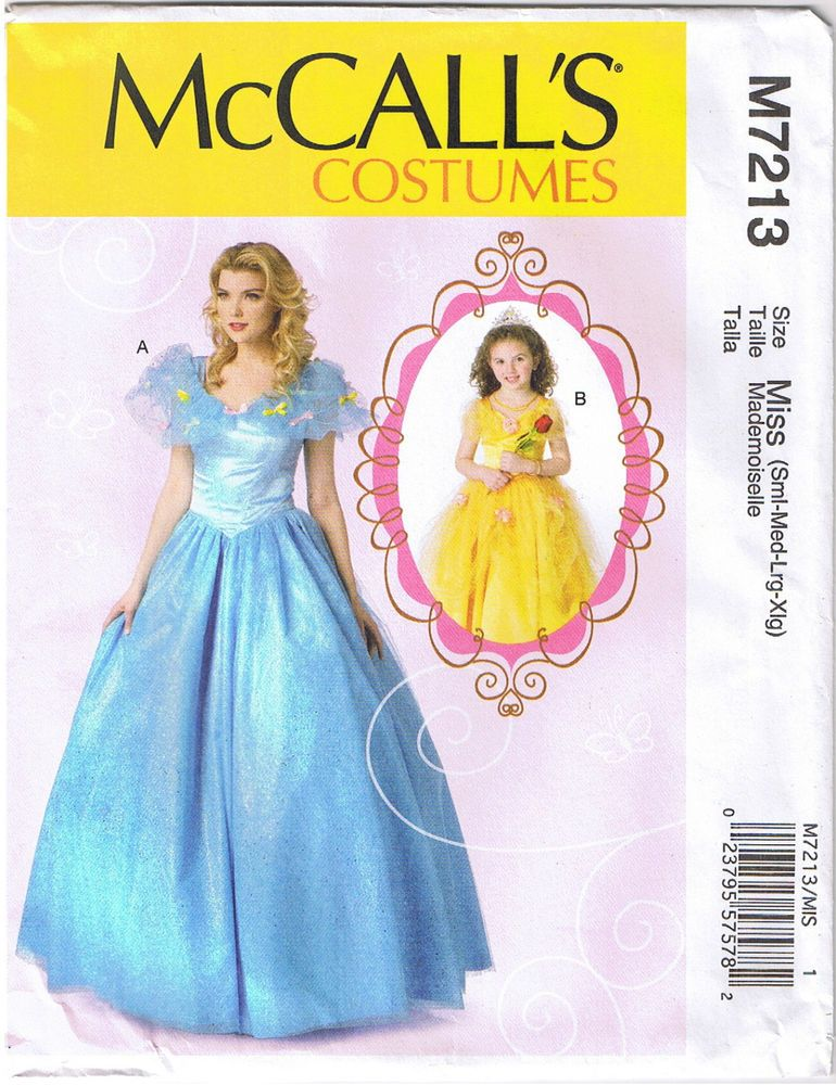 Cinderella Princess Dress Ball Gown Costume Sewing Pattern 8 10 12 14 16 18 20 Mccalls Misses Princess Ball Gowns Ball Dresses Costume Sewing Patterns