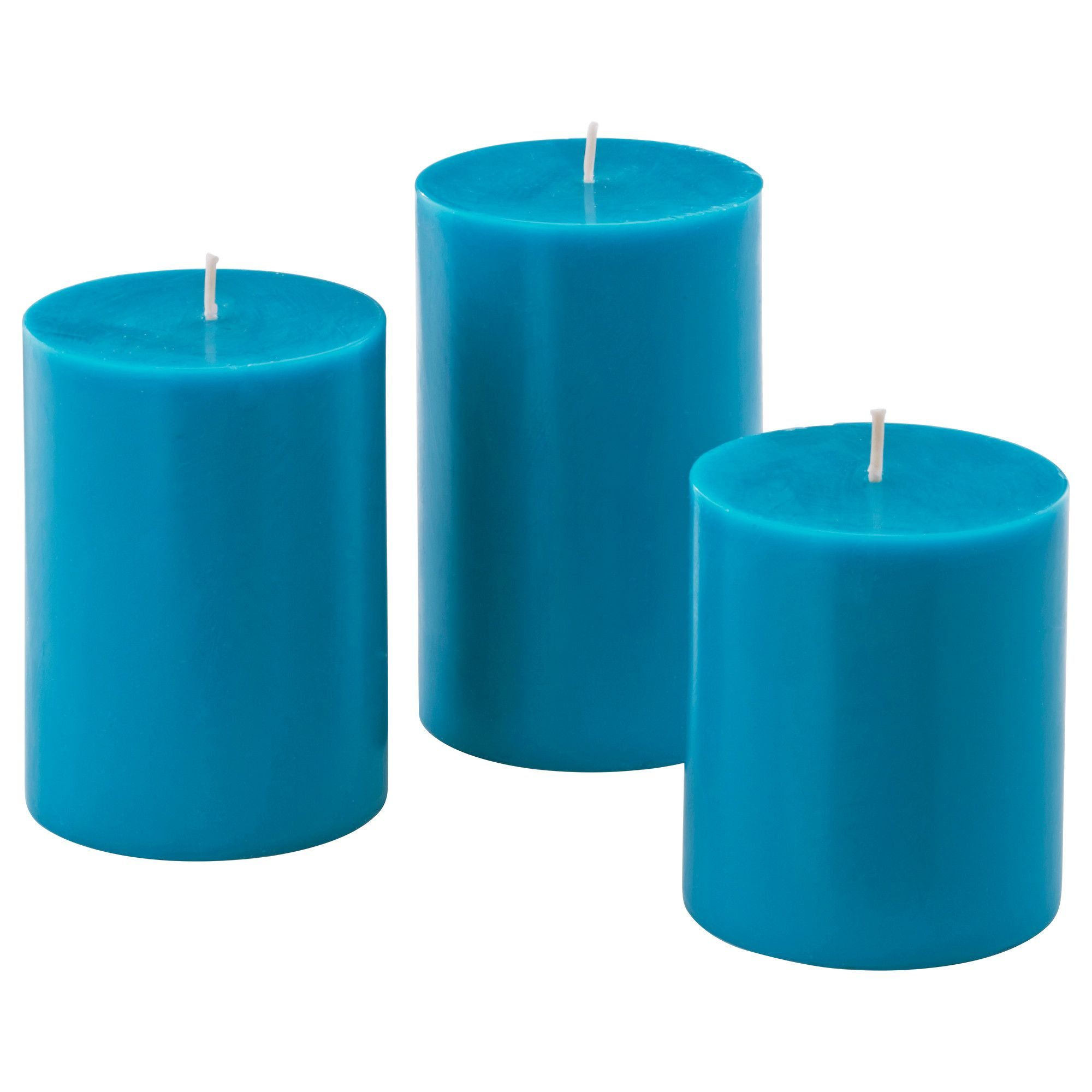 NYKÄR Scented block candle, set of 3 - IKEA | blue | Pinterest ...