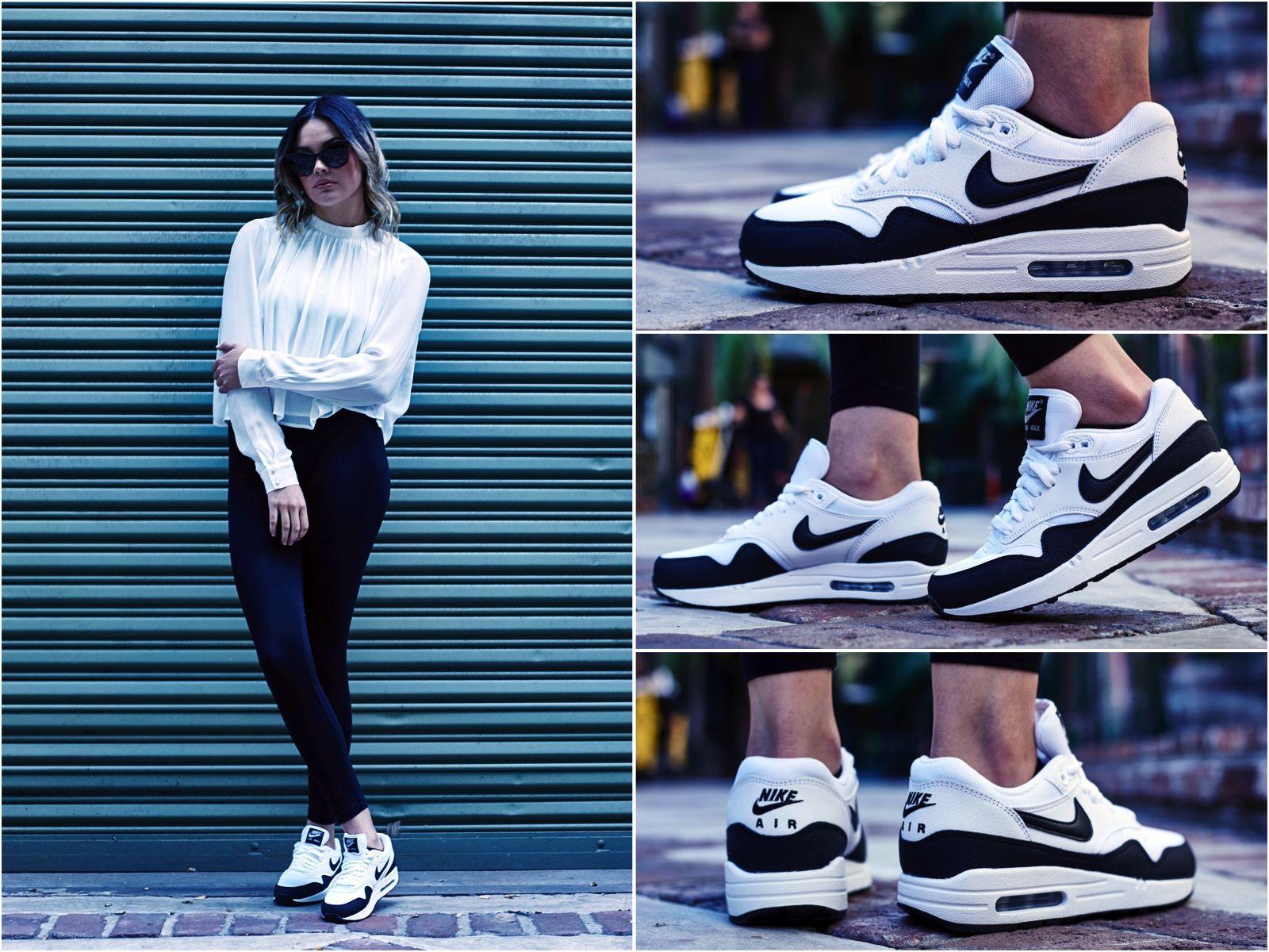 ON FOOT LOOK NIKE AIR MAX 1 ESSENTIAL WHITEBLACK   Nike