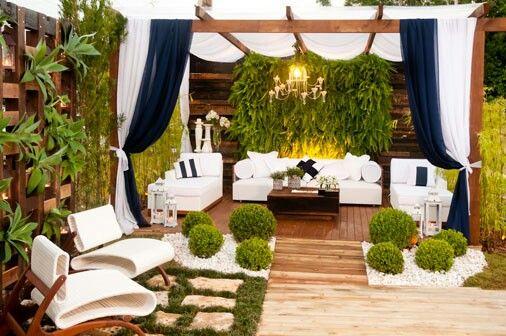 con cortinas Exteriores y Mas Pinterest Cortinas, Pérgolas y - cortinas para terrazas
