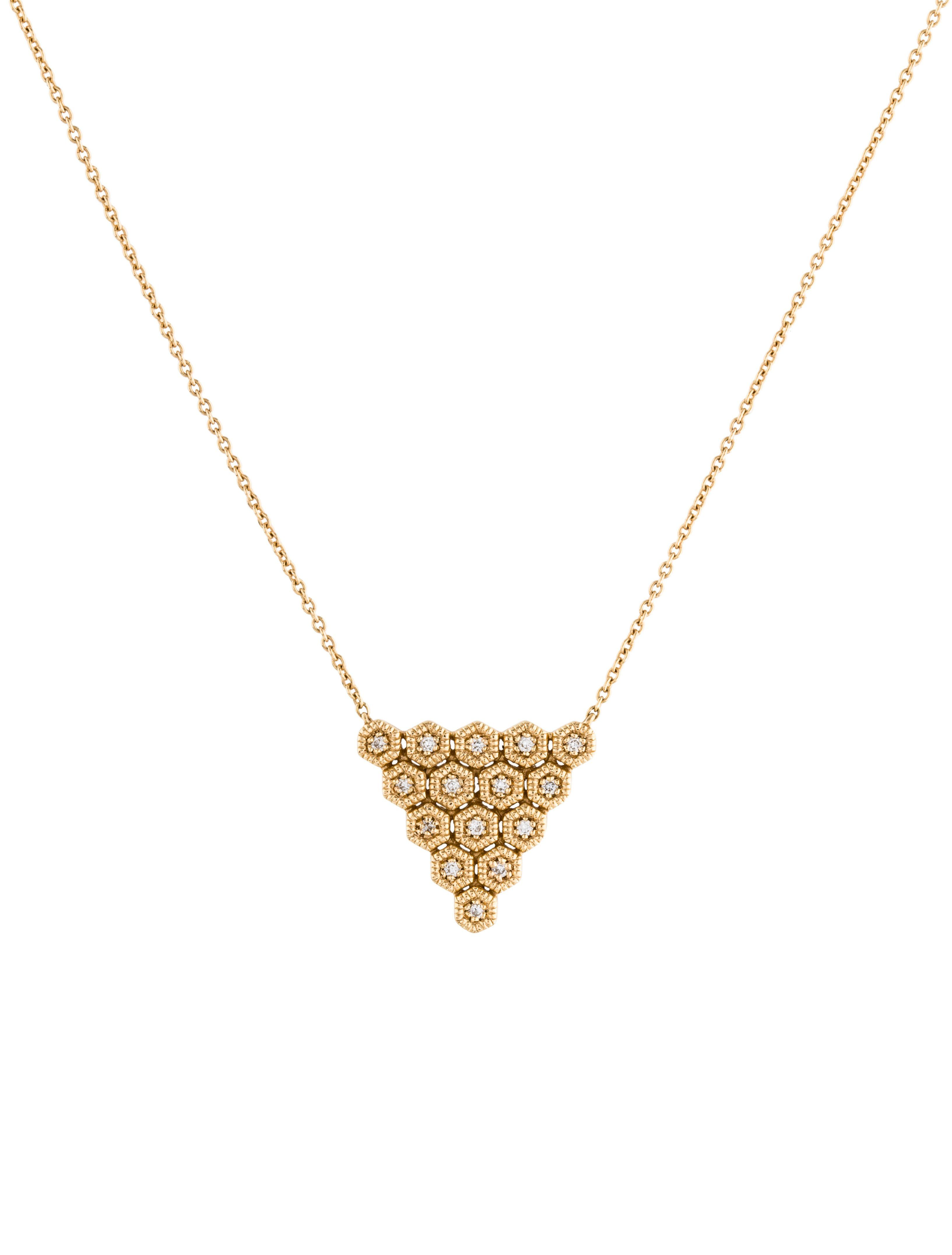 Dana rebecca designs k diamond triangle pendant necklace fashion