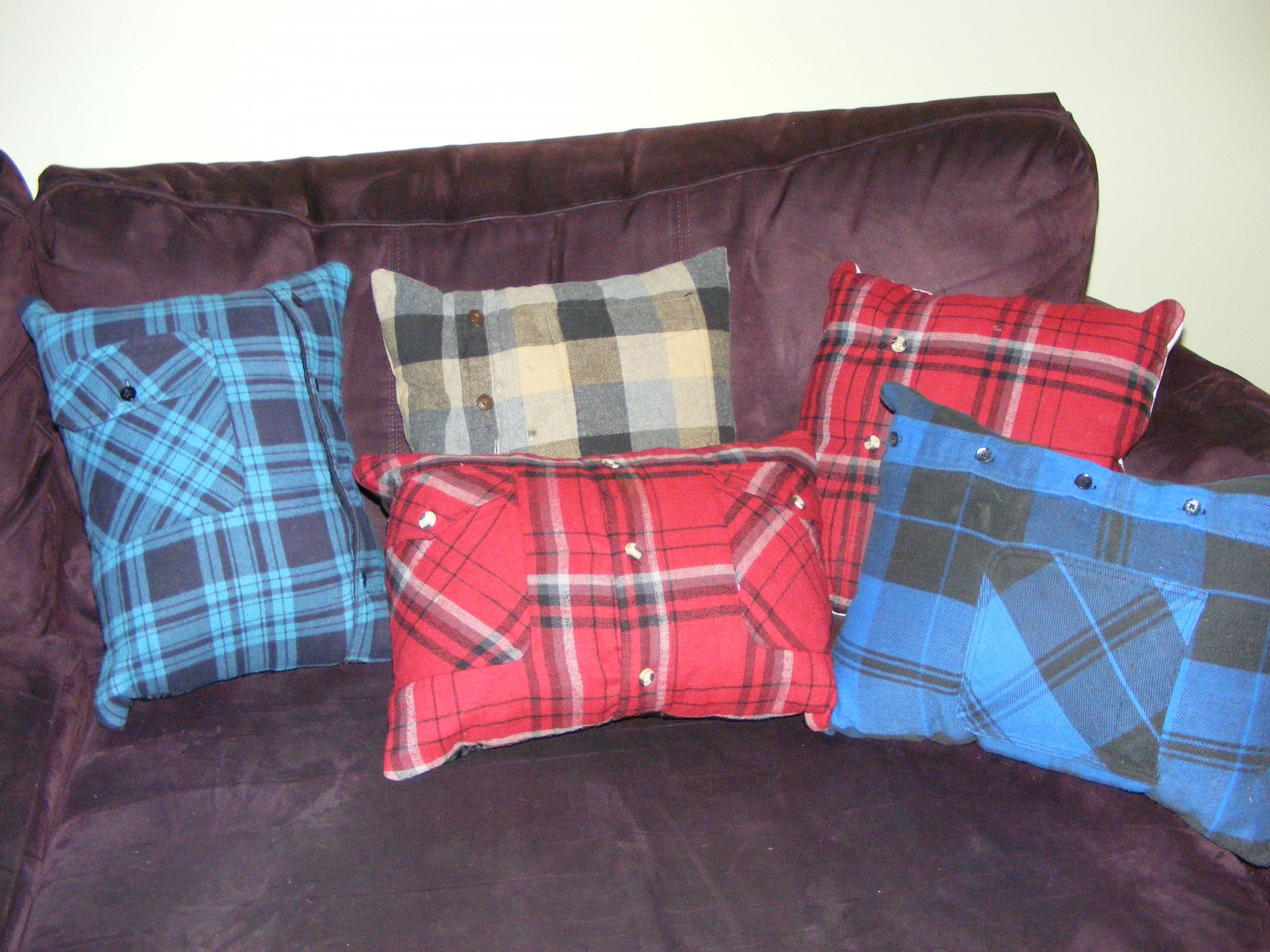 Pillows Grandfather' Flannel Shirts