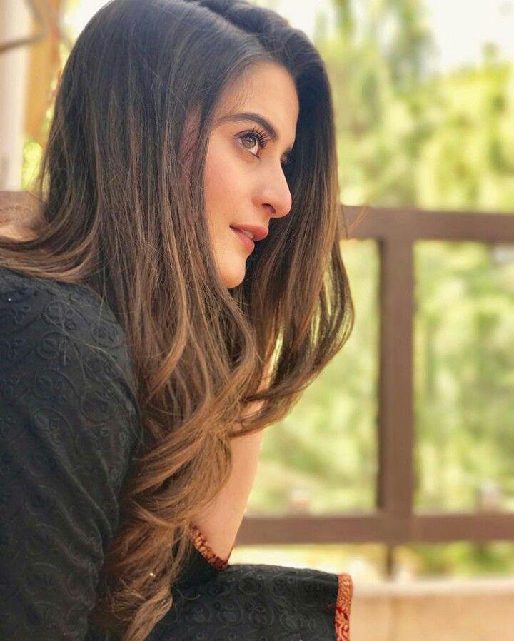 Pakistani Actress Hairstyles: Beautiful Girl Aiman Khan #HairStyle #HairGame #AimanKhan