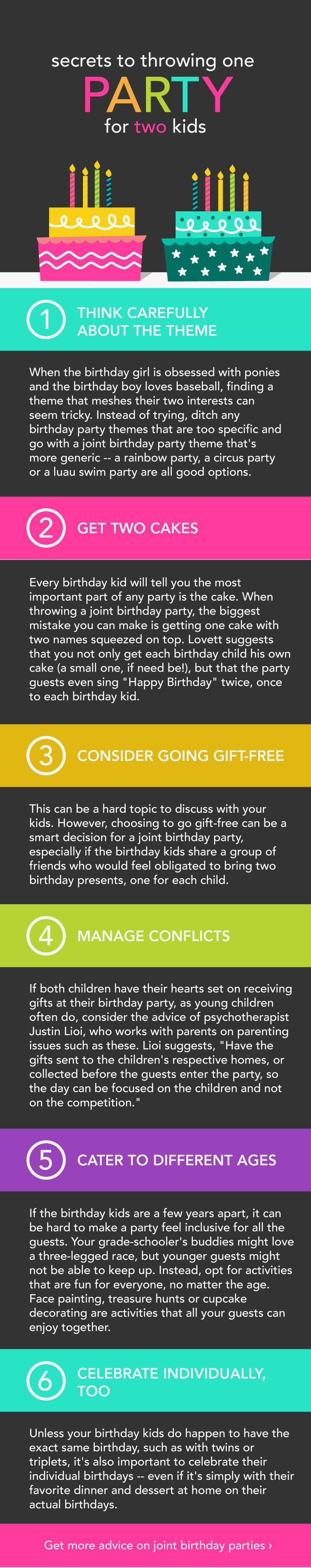 wording0th birthday party invitation%0A How to Throw a Joint Birthday Party   Joint birthday parties  Siblings and  Success