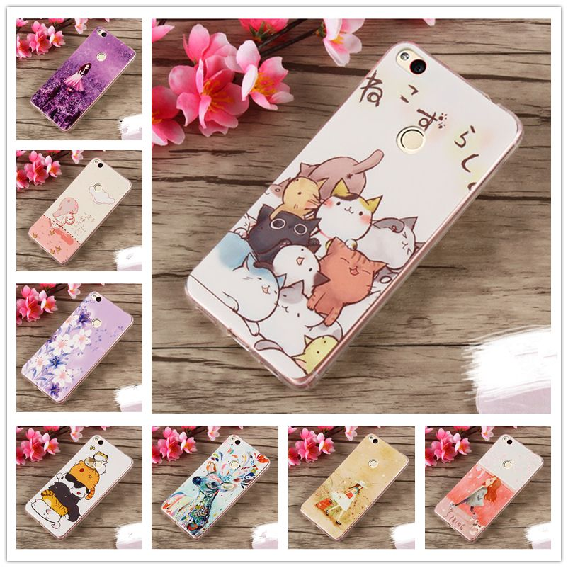 f43472893ee For Huawei P8 lite 2017 Case Cute Painted TPU Soft Silicon Cover Case For Huawei  honor