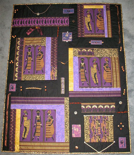 Quilted Wall Hanging African Beauties by wendyjenkins on Etsy ...