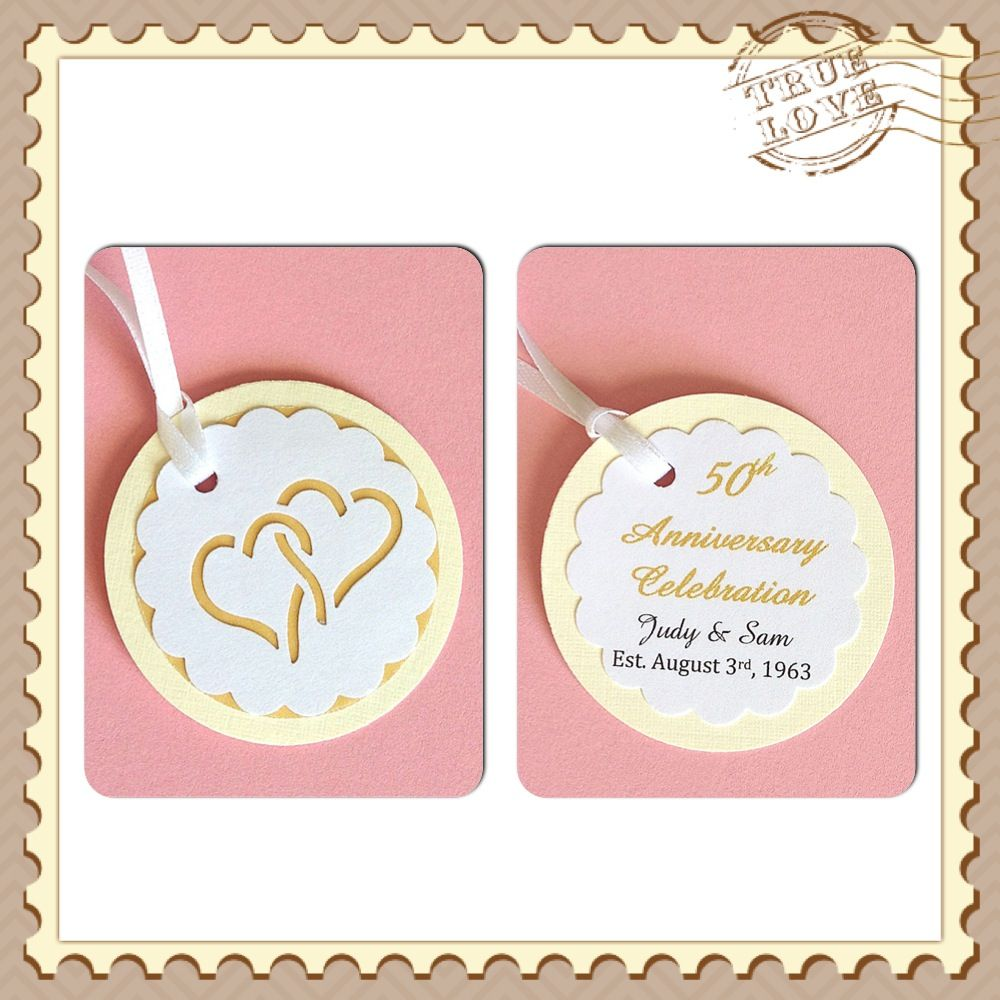 50th Anniversary Favor/Gift Tags - Golden Anniversary http://www ...
