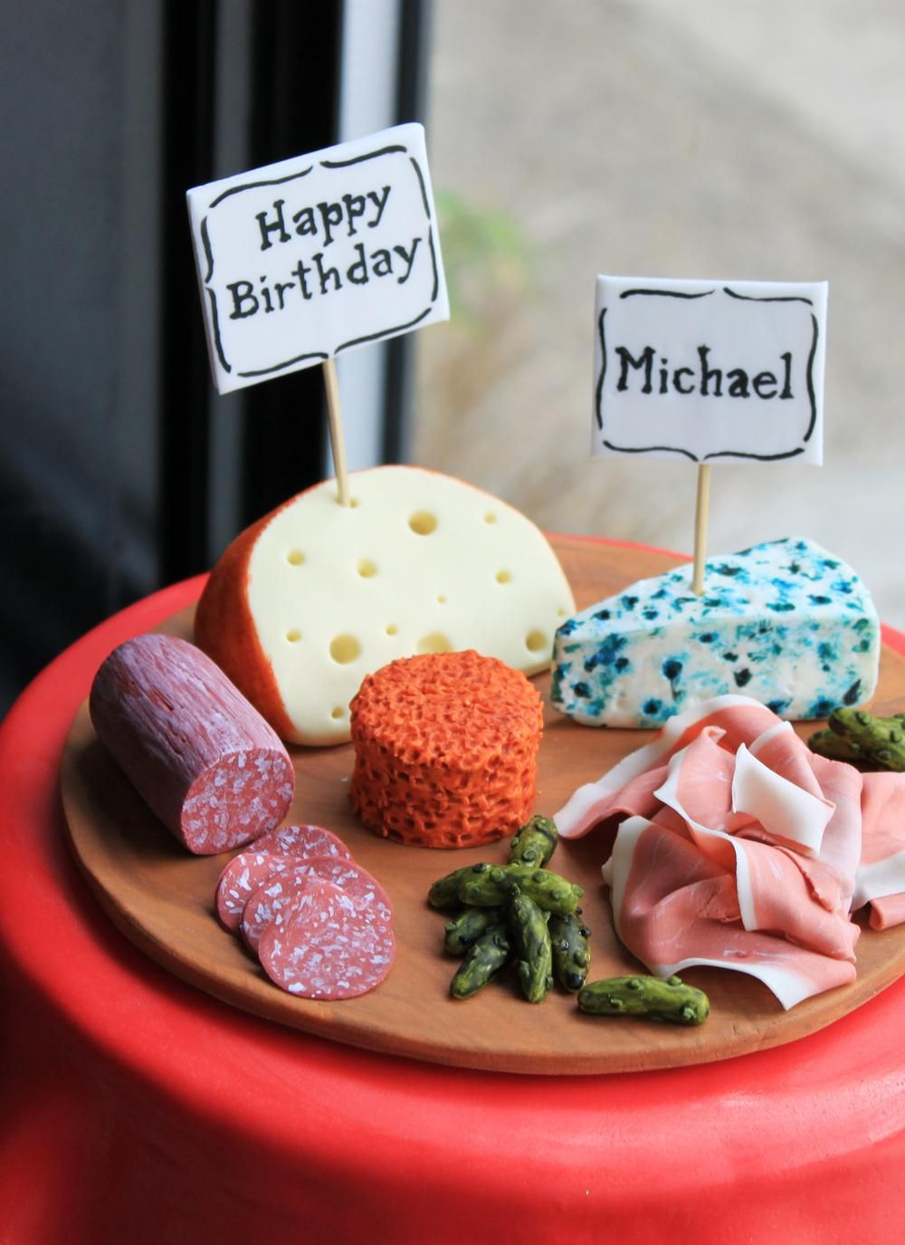 Meats and Cheeses Birthday Cake Whipped Bakeshop Kawaii Cakes