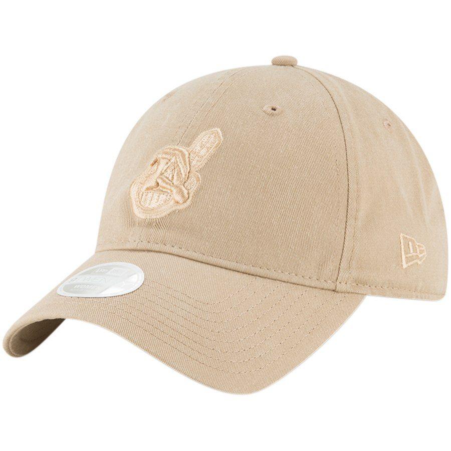 sale retailer dc328 24348 Women s Cleveland Indians New Era Brown Core Classic Twill 9TWENTY Camel Adjustable  Hat, Your Price   19.99