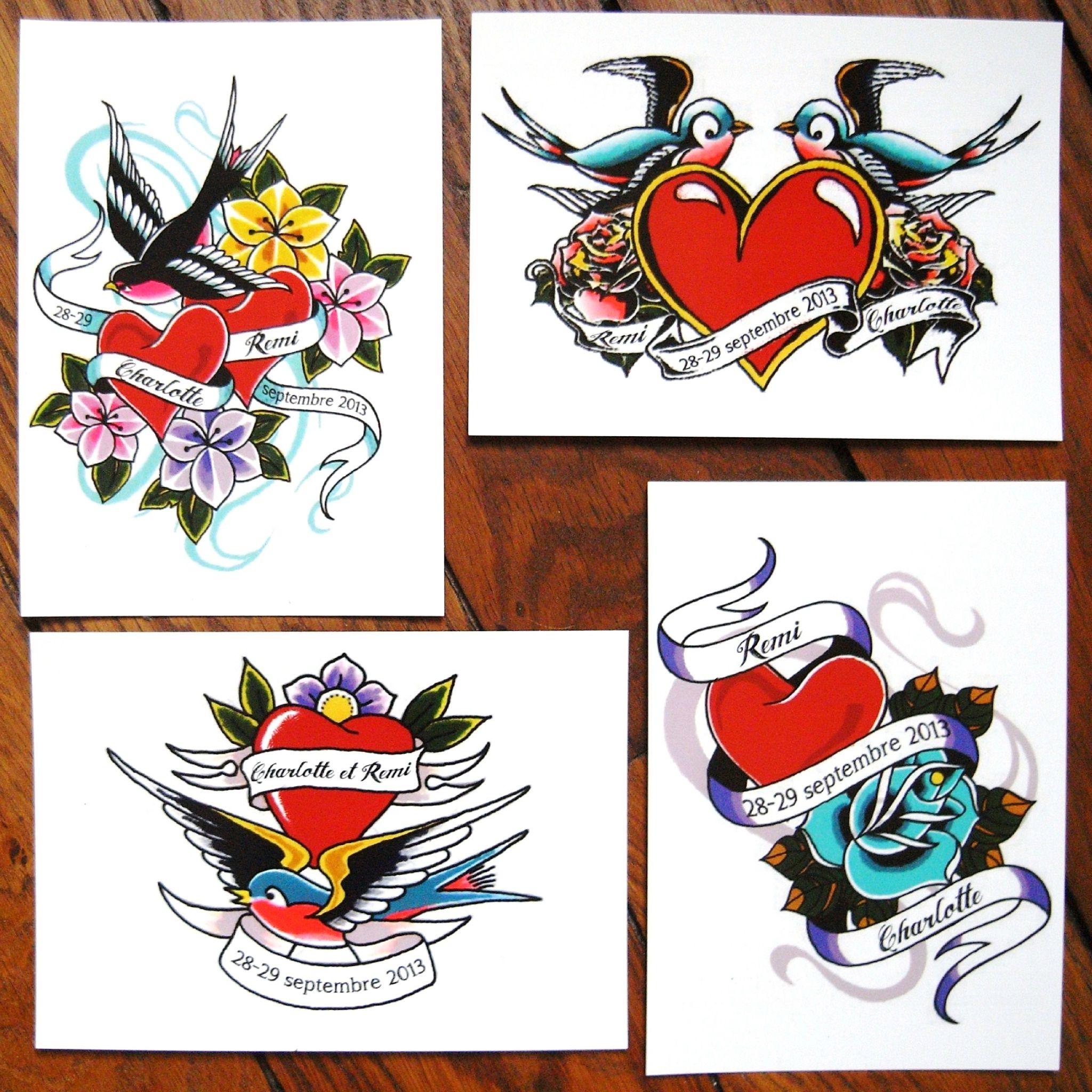 Rockabilly Wedding Ideas: Save The Date Rockabilly Tattoo