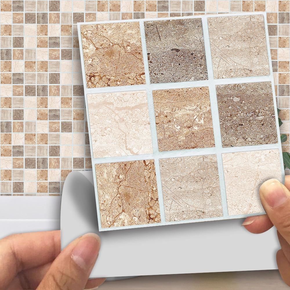 18pcs 10x10cm Self Adhesive Waterproof Black Marble Mosaic Wall Art Kitchen Furniture Tile Sticker Wall Decal Wall Sticker 2019 In 2020 Mosaic Tile Stickers Tile Stickers Kitchen Mosaic Wall Tiles