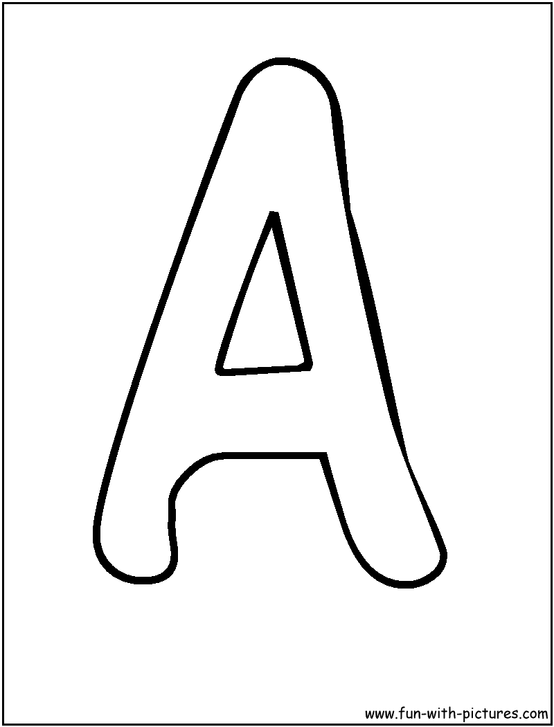 bubble letters a coloring page - Letter A Coloring Pages