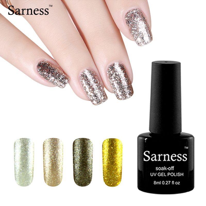 Sarness Semi Permanent 12 Colors Platinum UV Gel Nail Polish Colors ...
