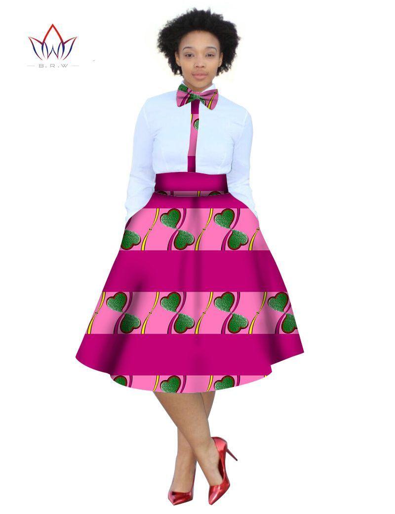 2017 christmas dress Plus Size 2 Pieces African Print Dashiki Shirt Skirt  Set Bazin Rche Femme Africa Clothing 5xl natural WY773 e521013679e2