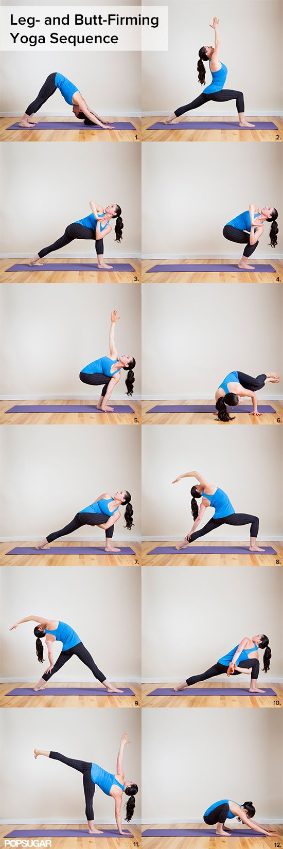 "Burning Squats Yoga Sequence: Your Jeans Will Say ""More Please! by fitsugar #Yoga #Squats_Sequence #YOGA #HEALTH #HAWA"