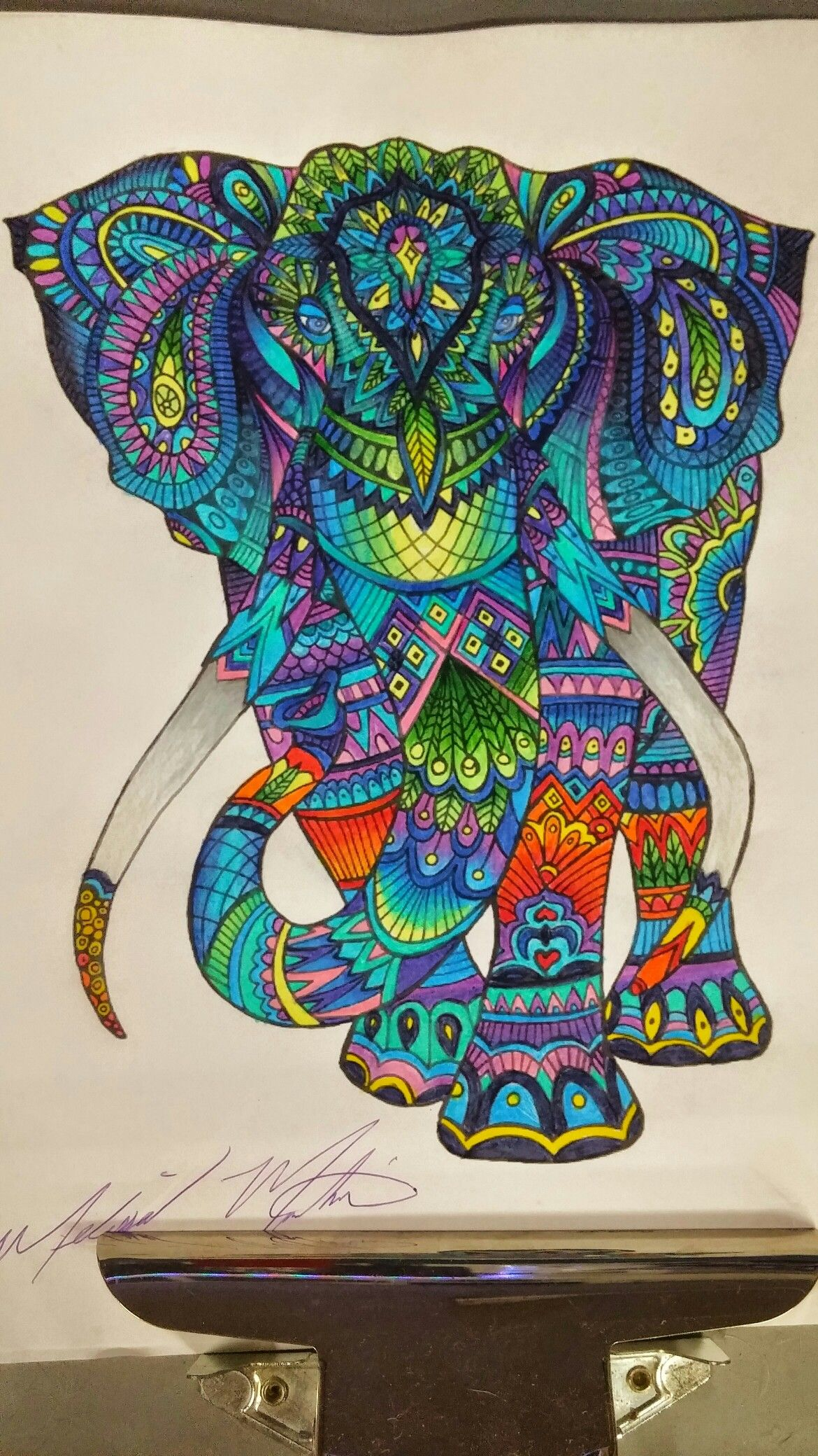 Colored Pencils, Art Drawings, Enchanted, Adult Coloring, Elephant, Dangles, Zen,