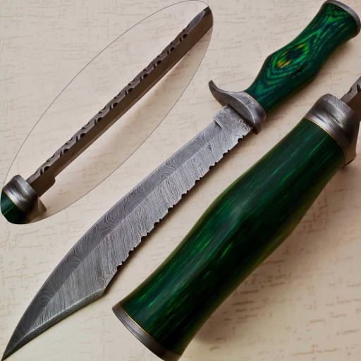 Overall Length 14 Inchesblade Length 5 In Handle Length 9 In Type Of Steel 15n20 1095hardness 55 Hrcnumber Of Layers 350 In 2020 Knife Making Bowie Knife Knife