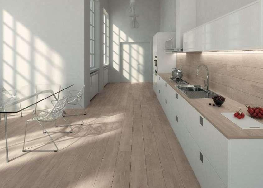 Abbinare il pavimento al rivestimento della cucina Интерьер
