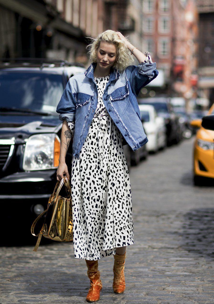 fd09a517dfddcb Kleider · Couture · Mit einer Oversized Jeansjacke kann man Sommerkleider  schon im Frühling tragen. #jeans #trend