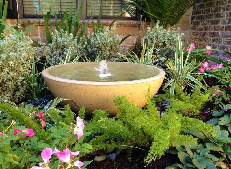Make your own tranquil garden fountain mediterranean for Build your own outdoor water fountain