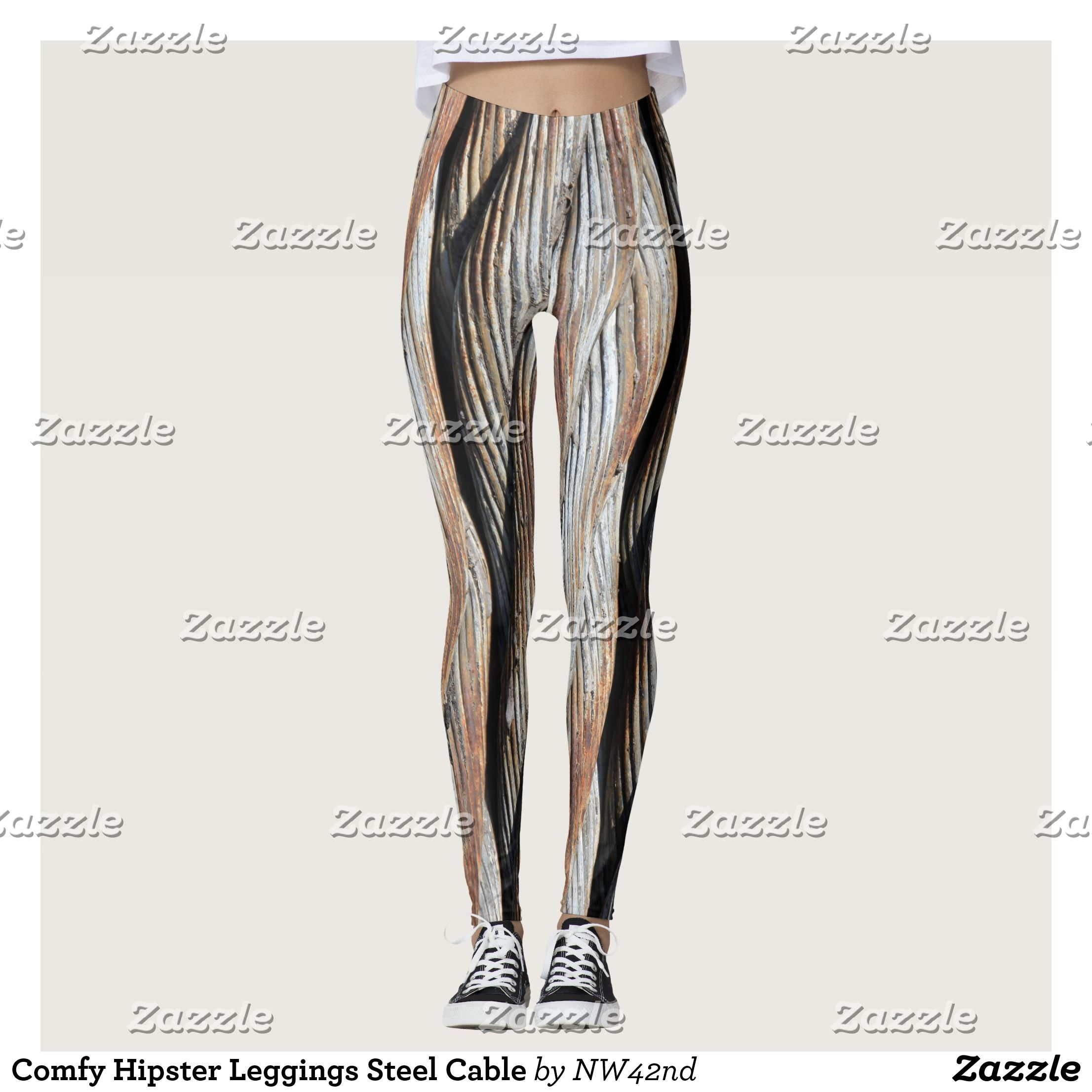 Comfy Hipster Leggings Steel Cable Beautiful Yoga Pants