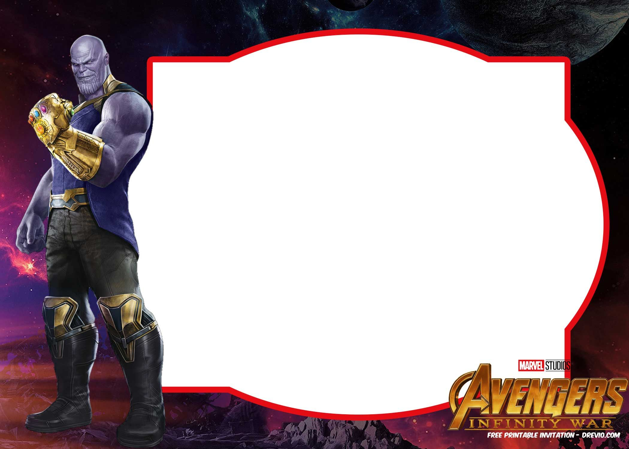 Free FREE Avengers Infinity Wars Birthday Invitation Templates