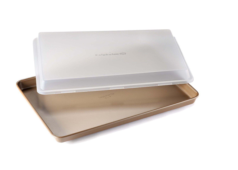 Calphalon nonstick bakeware baking sheet with cover 12