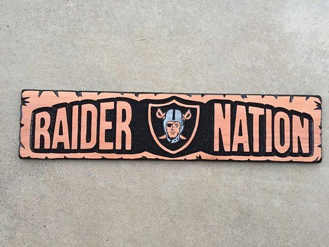 Raider Nation custom sign $100.00