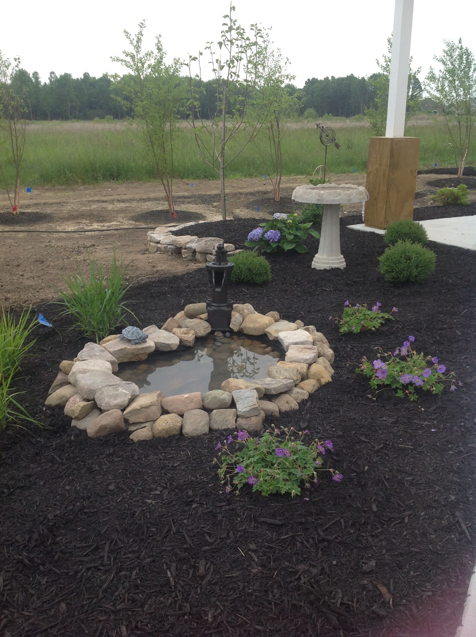 Small Garden Fountain: Small Water Feature With Pump